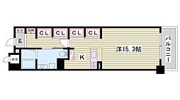 JR東海道・山陽本線 姫路駅 バス10分 元町3丁目下車 徒歩4分の賃貸マンション 5階1Kの間取り
