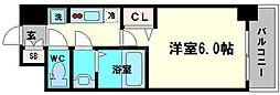 レオンコンフォート京橋イースト 3階1Kの間取り