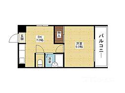 西淡路土井マンション[5階]の間取り