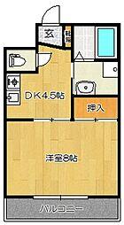ユートピア三愛新島[205号室]の間取り