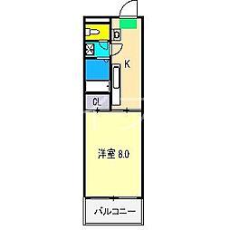 Benefit HARIMAYA[2階]の間取り