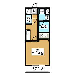 ベラジオ京都壬生 ウエストゲート[2階]の間取り
