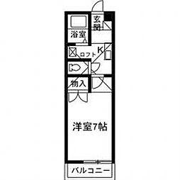 ハイツミヤマTOKIO[101号室]の間取り