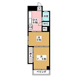 ひらのビル[2階]の間取り