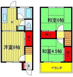 [一戸建] 千葉県流山市向小金3丁目 の賃貸【/】の間取り