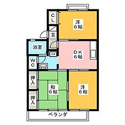 セジュールK[1階]の間取り