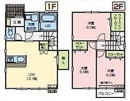 [テラスハウス] 埼玉県所沢市北野1丁目 の賃貸【/】の間取り