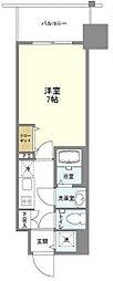 阪急神戸本線 中津駅 徒歩7分の賃貸マンション 3階1Kの間取り