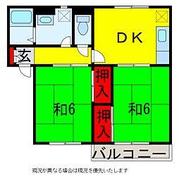 レイダースII[2階]の間取り