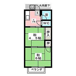 パナハイツ沼田[2階]の間取り