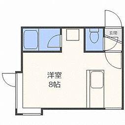クルーズハウス澄川IIB[2階]の間取り