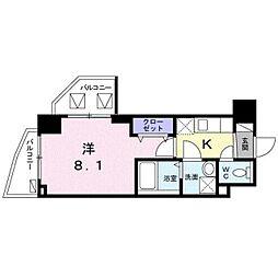 東京メトロ東西線 葛西駅 徒歩10分の賃貸マンション 3階1Kの間取り