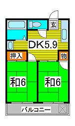 福田第一マンション[3階]の間取り