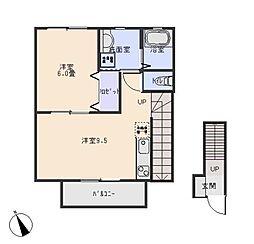 (仮称)洞町向山賃貸住宅[2階]の間取り