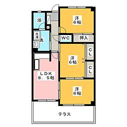 ゴールド高澤[1階]の間取り