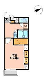兵庫県加古郡播磨町東野添2丁目の賃貸アパートの間取り