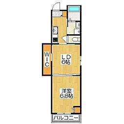 グランレブリー御所西II[1階]の間取り