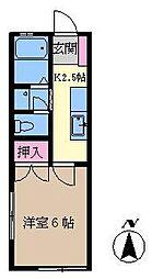 コトブキハイムA[103号室]の間取り