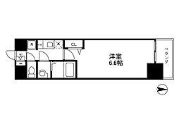 Osaka Metro千日前線 阿波座駅 徒歩5分の賃貸マンション 14階1Kの間取り