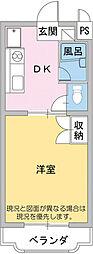 マンション明日香[3階]の間取り