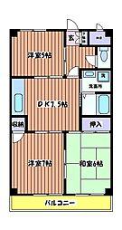 レグルス[3階]の間取り