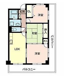 大阪府高槻市南平台3丁目の賃貸マンションの間取り