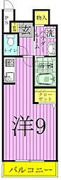 コガネハラーゼ・ナミキ[201号室]の間取り