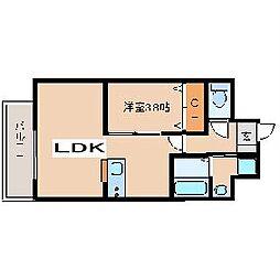 阪神本線 武庫川駅 徒歩15分の賃貸マンション 5階1LDKの間取り
