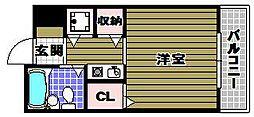 朝日プラザ河内長野デポーフロント[2階]の間取り