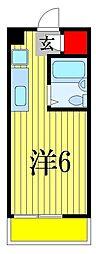 イングルサイド[3階]の間取り