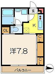 神奈川県横浜市港南区大久保3丁目の賃貸マンションの間取り