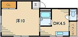 プチメゾン堀溝III[1階]の間取り