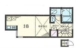 ルラシオン氷川台[3B号室]の間取り