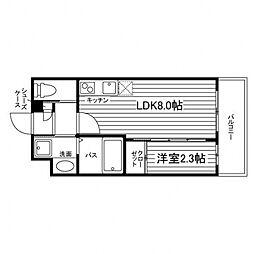 (仮称)仙台宮町2丁目マンション 2階1LDKの間取り