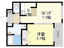 北海道札幌市白石区東札幌5条5丁目の賃貸マンションの間取り