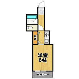 パークライフ高橋[4階]の間取り