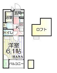 東京都足立区加賀1丁目の賃貸マンションの間取り