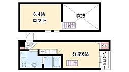 愛知県名古屋市南区明治2丁目の賃貸アパートの間取り