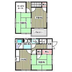 [一戸建] 広島県福山市能島3丁目 の賃貸【広島県/福山市】の間取り