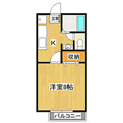 リバティーハウス桜A[1階]の間取り