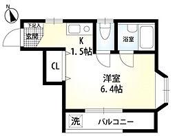 東京都町田市玉川学園2の賃貸アパートの間取り