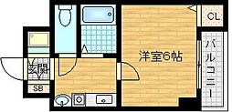 センティ天満橋[7階]の間取り