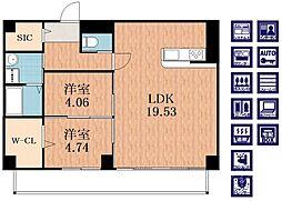 仮称)寺田町1丁目新築マンション[4階]の間取り
