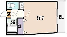 ラスター俊徳[2階]の間取り