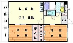 インフィニティ舞の里[2階]の間取り