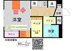 小田急小田原線 鶴川駅 バス16分 綾部入口下車 徒歩10分の賃貸アパート 2階1Kの間取り
