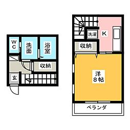 [テラスハウス] 茨城県水戸市若宮2丁目 の賃貸【/】の間取り