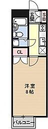 プレシャスコート(旧コスモコミュニティ東山)[402号室号室]の間取り