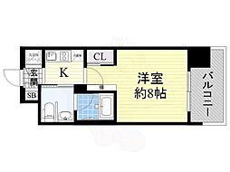 Osaka Metro長堀鶴見緑地線 西大橋駅 徒歩5分の賃貸マンション 5階1Kの間取り