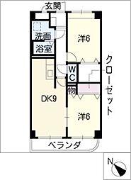 メゾン・ド・エール[2階]の間取り
